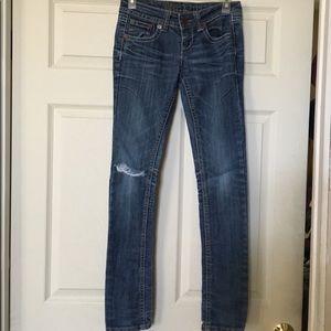 Dark Blue Destroyed Jeans